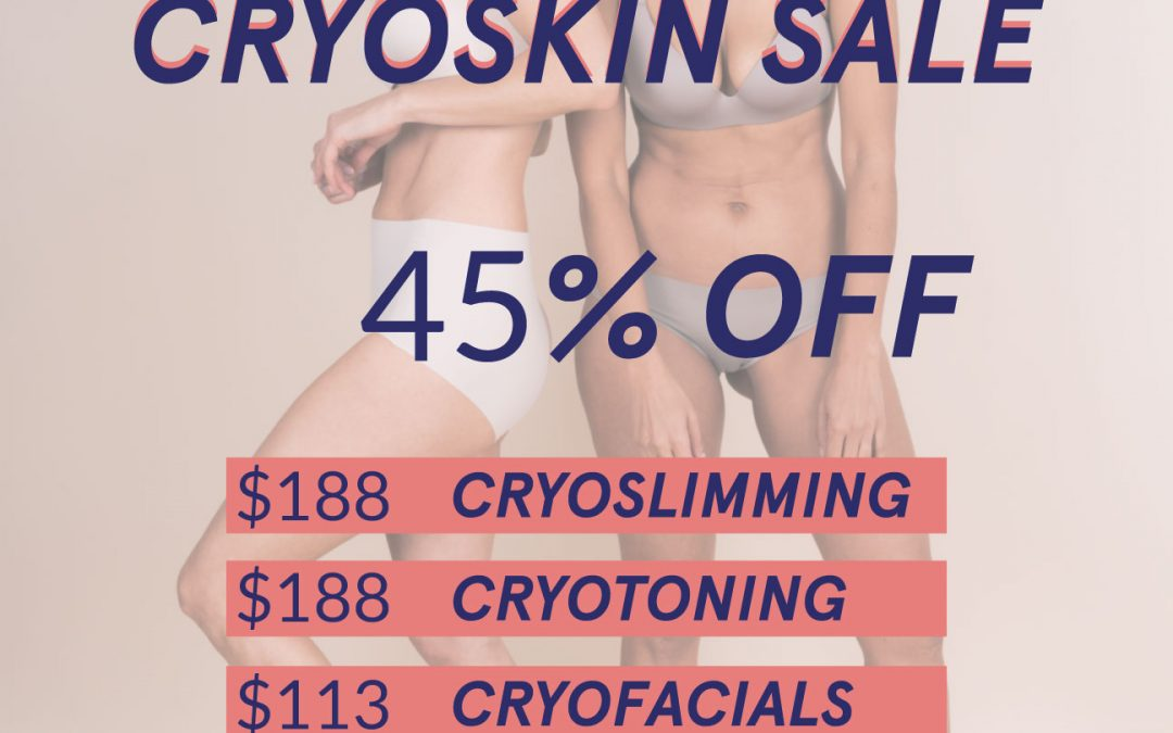 Cryoskin Sale ends in 5 days!